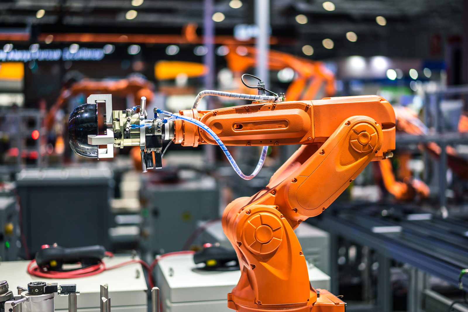 robotic arm manufacturing factory