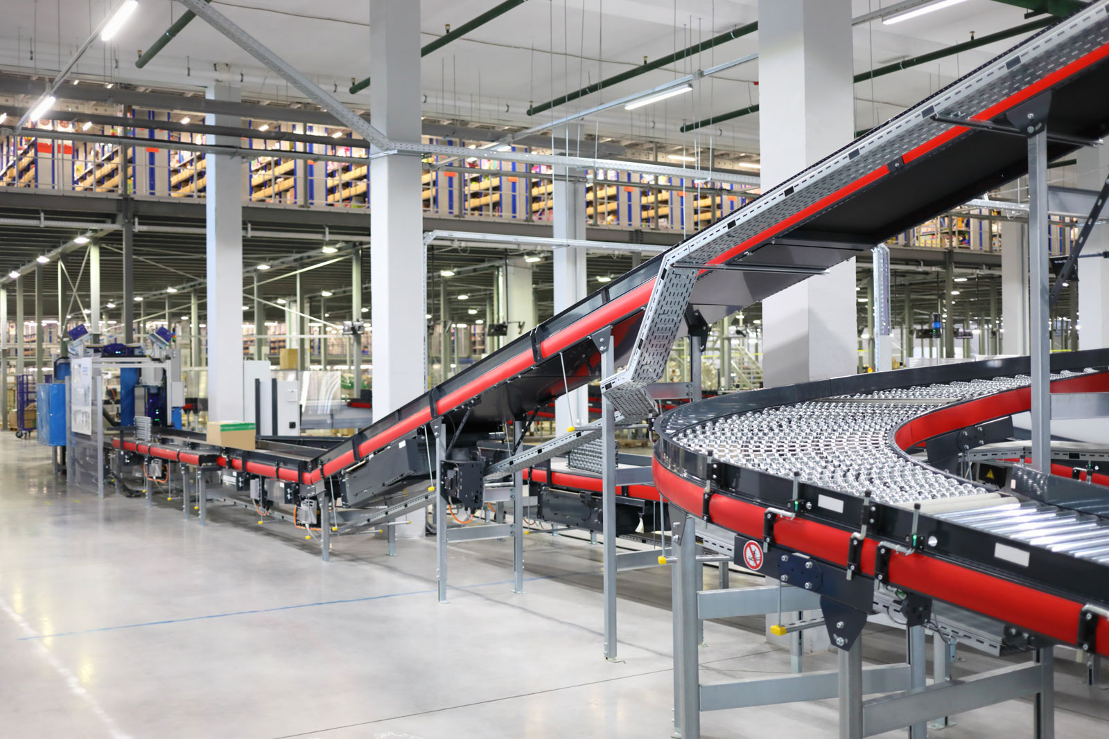 big empty modern workshop conveyors