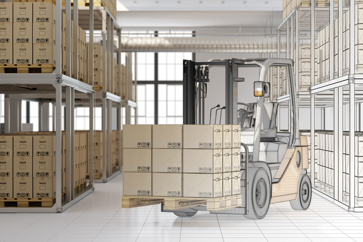 CAD-planning-mail-order-warehouse-forklift
